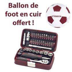 """Coffret KRAFTWERK 99073 de douilles et embouts 38 pièces 1/4"""" (Ballon offert)"""