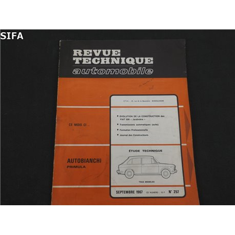 Autobianchi Primula Revue technique