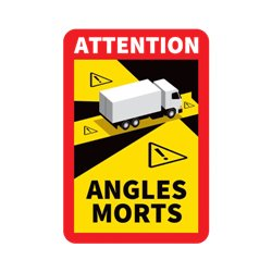 Panneau angles morts camions