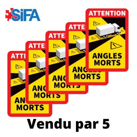Panneaux angles morts pour camions par 5