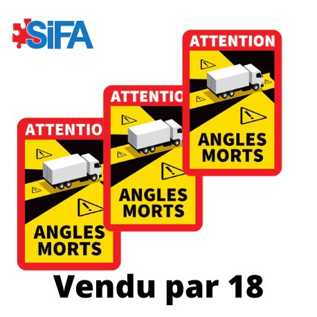 Panneaux angles morts camions par 18