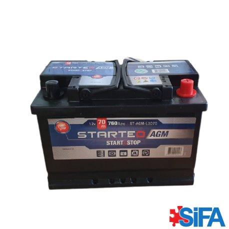 Batterie 12V 70Ah 760A START AND STOP